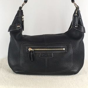 COACH Penelope Black Pebbled Leather Handbag